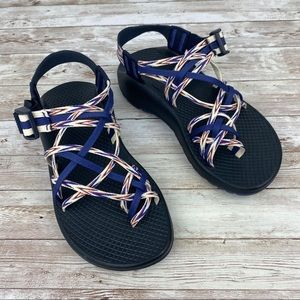 Chaco Women's ZX/3 Classic Sandals red white blue